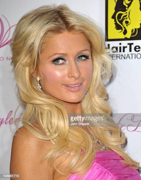 Paris Hilton arrives to the Launch Party For The Paris Hilton Hair And Beauty Line at Thompson Hotel on November 17 2009 in Beverly Hills California