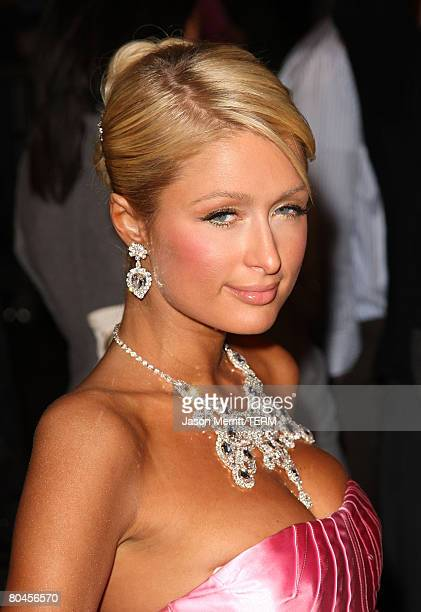 Paris Hilton arrives to the Los Angeles Premiere of 'The Hottie The Nottie' at the Egyptian Theater on February 4 2008 in Hollywood California