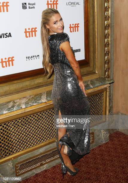 Paris Hilton arrives to the premiere of The Death and Life of John F Donovan held during 2018 Toronto International Film Festival on September 10...