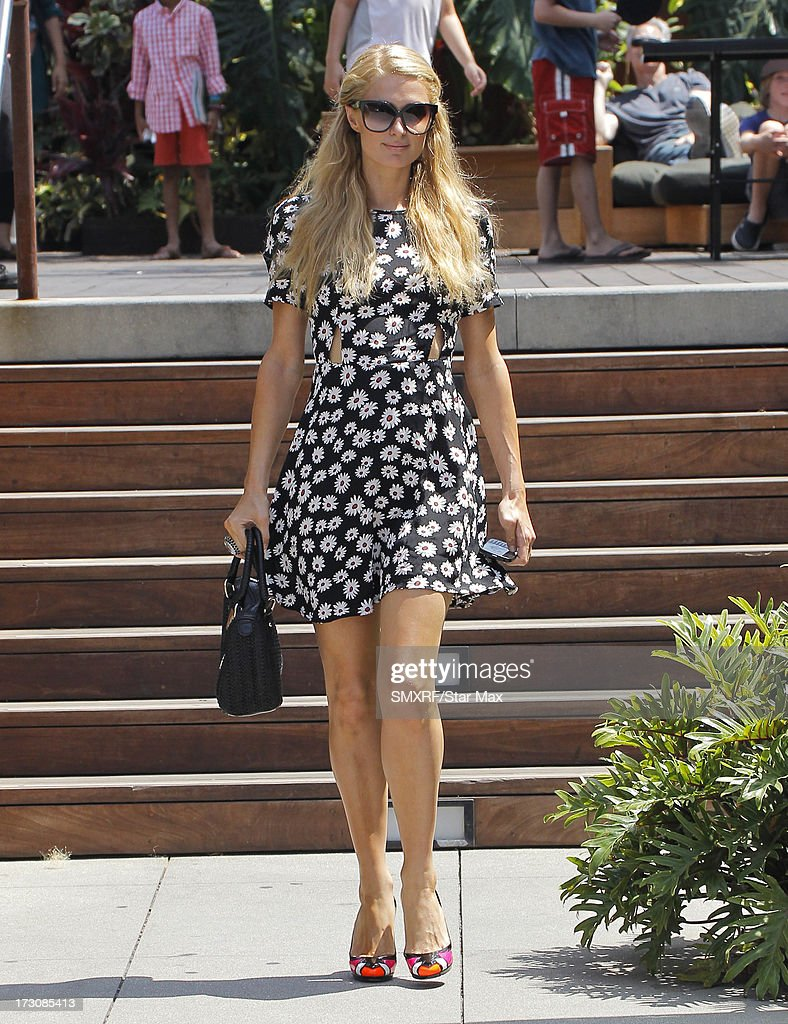 Paris Hilton as seen on July 6, 2013 in Los Angeles, California.