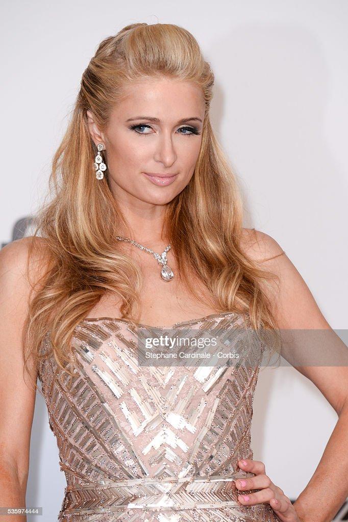 Paris Hilton at the amfAR's 21st Cinema Against AIDS Gala at Hotel du Cap-Eden-Roc during the 67th Cannes Film Festival