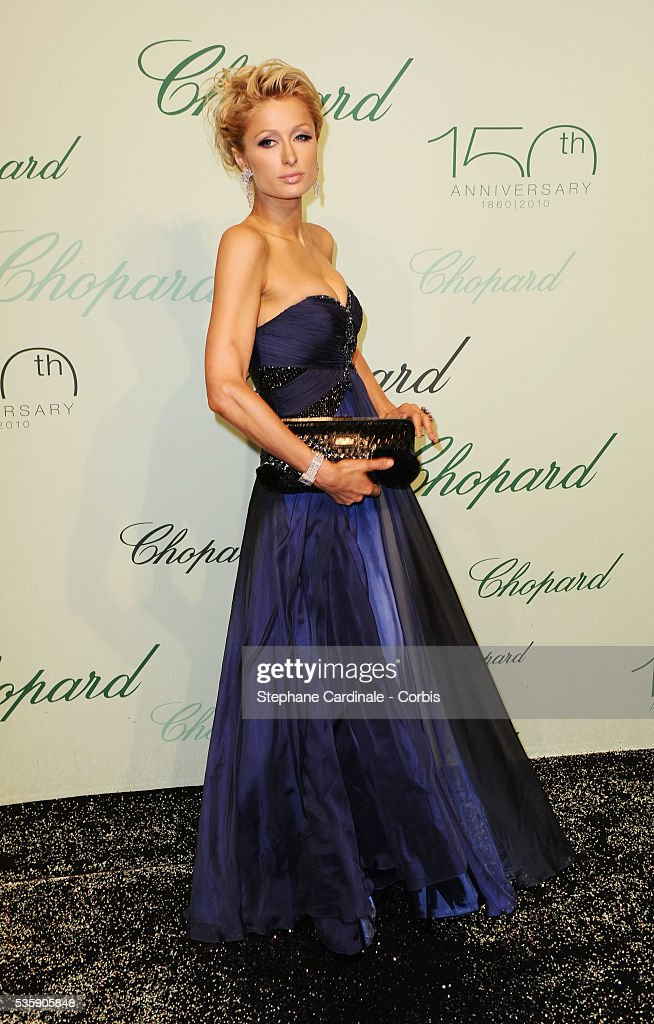 Paris Hilton at the 'Chopard 150th Anniversary Party' during the 63rd Cannes International Film Festival.