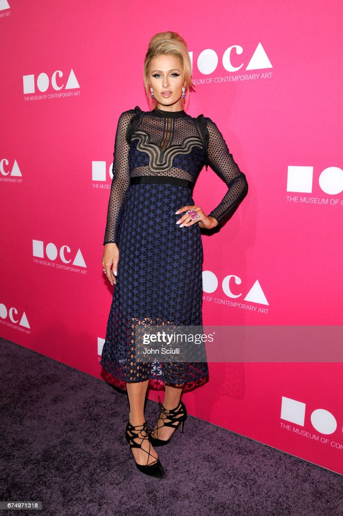 Paris Hilton at the MOCA Gala 2017 honoring Jeff Koons at The Geffen Contemporary at MOCA on April 29, 2017 in Los Angeles, California.