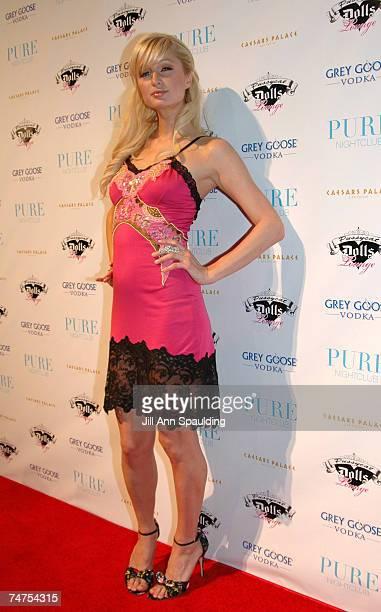 Paris Hilton at the Paris Hilton's 25th Birthday Party at Pure Night Club at Caesars Palace in Las Vegas Nevada