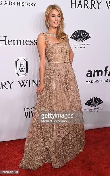 Paris Hilton attends 2016 amfAR New York Gala at Cipriani Wall Street on February 10 2016 in New York City