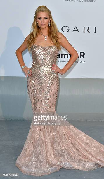 Paris Hilton attends amfAR's 21st Cinema Against AIDS Gala, Presented By WORLDVIEW, BOLD FILMS, And BVLGARI at the 67th Annual Cannes Film Festival...