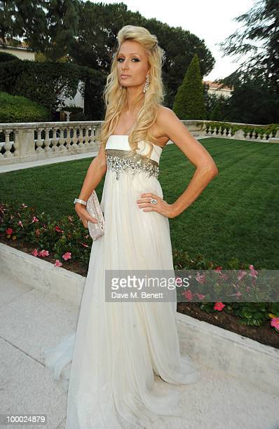 Paris Hilton attends amfAR's Cinema Against AIDS 2010 benefit gala at the Hotel du Cap on May 20 2010 in Antibes France