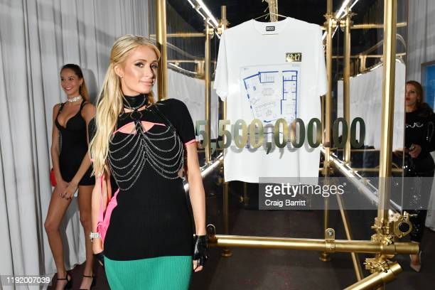 Paris Hilton attends as DIESEL celebrates the exclusive launch of DIESEL Wynwood 28, their first residential building, with a DJ set by Amrit at...