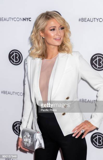 Paris Hilton attends Beautycon Festival NYC 2018 at Jacob K Javits Center Manhattan
