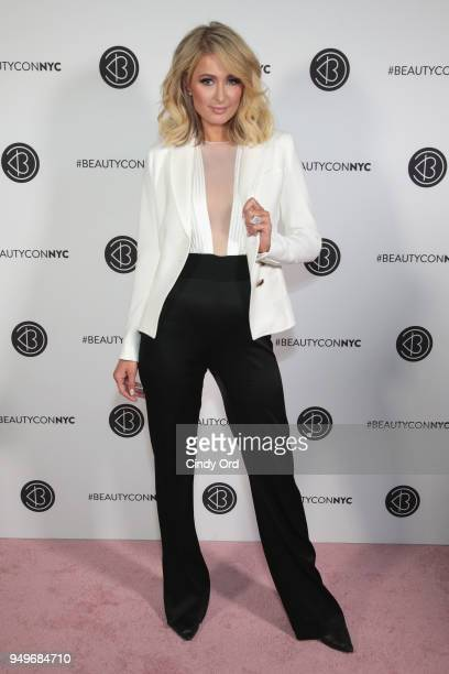 Paris Hilton attends Beautycon Festival NYC 2018 Day 1 at Jacob Javits Center on April 21 2018 in New York City