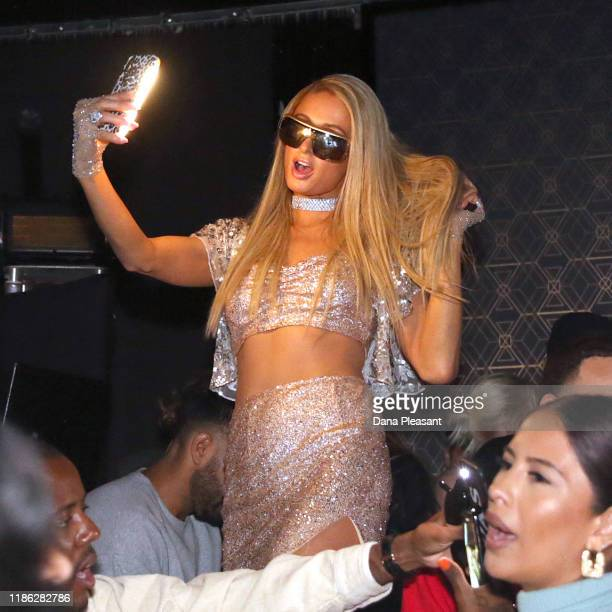 Paris Hilton attends boohoo x All That Glitters Launch Party on November 07 2019 in Los Angeles California