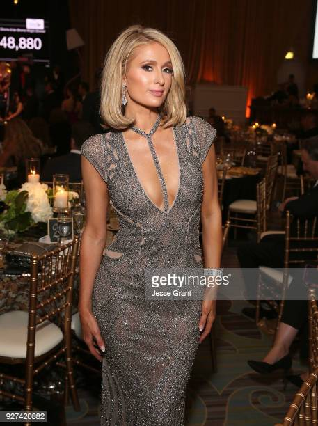 Paris Hilton attends Byron Allen's Oscar Gala Viewing Party to Support The Children's Hospital Los Angeles at the Beverly Wilshire Four Seasons Hotel...