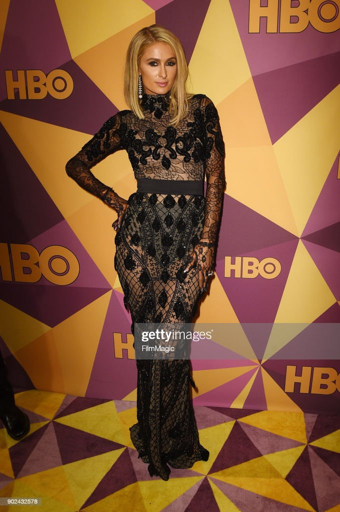 Paris Hilton attends HBO's Official 2018 Golden Globe Awards After Party on January 7, 2018 in Los Angeles, California.