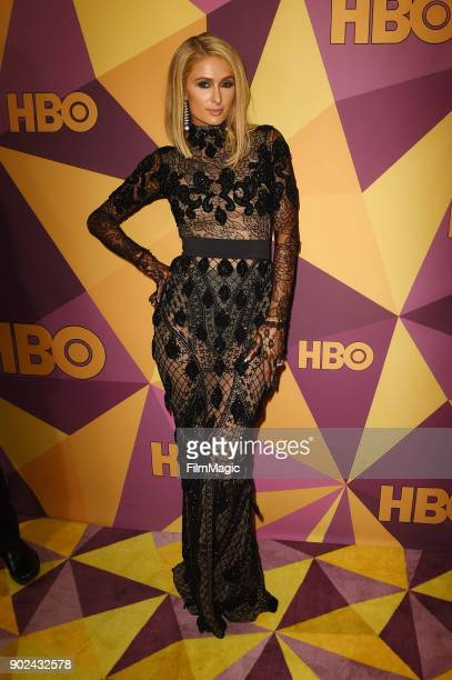 Paris Hilton attends HBO's Official 2018 Golden Globe Awards After Party on January 7 2018 in Los Angeles California