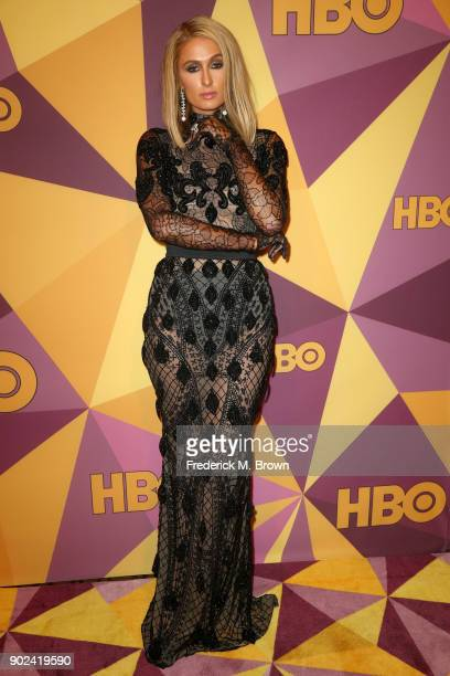 Paris Hilton attends HBO's Official Golden Globe Awards After Party at Circa 55 Restaurant on January 7 2018 in Los Angeles California