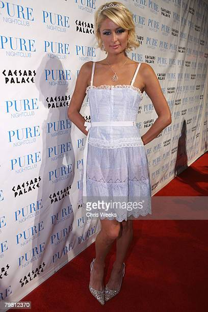 Paris Hilton attends her birthday party held at PURE Nightclub on February 16 2008 in Las Vegas Nevada
