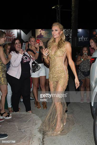 Paris Hilton attends her 'Foam Diamonds' party on July 2 2016 in Ibiza Spain
