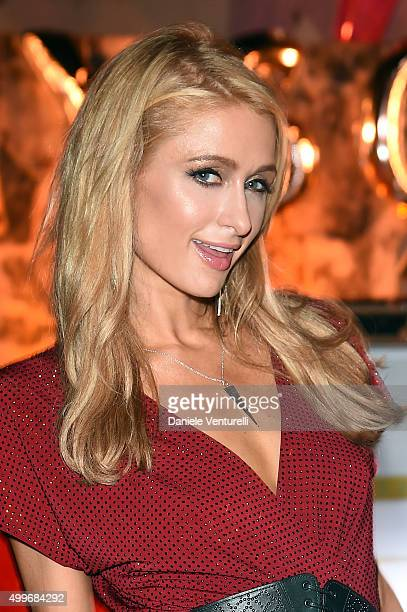 Paris Hilton attends Jeremy Scott Art Basel Party at the Surf Lodge At The Hall on December 2 2015 in Miami Beach Florida