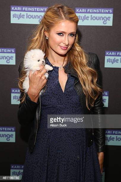 Paris Hilton attends Kari Feinstein's PreGolden Globes Style Lounge at Andaz West Hollywood on January 8 2015 in West Hollywood California