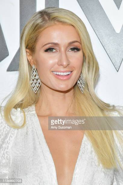 Paris Hilton attends MCM Global Flagship Store Grand Opening On Rodeo Drive at MCM Global Flagship Store on March 14 2019 in Beverly Hills California