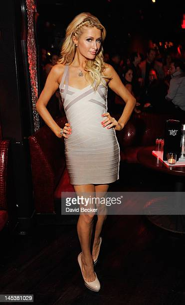 Paris Hilton attends Nick Hissom's debut performance at the Tryst nightclub at Wynn Las Vegas on May 27 2012 in Las Vegas Nevada