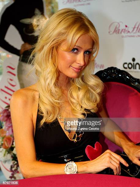 Paris Hilton attends Paris Hilton Clothing Line European launch at COIN on September 19 2008 in Milan Italy