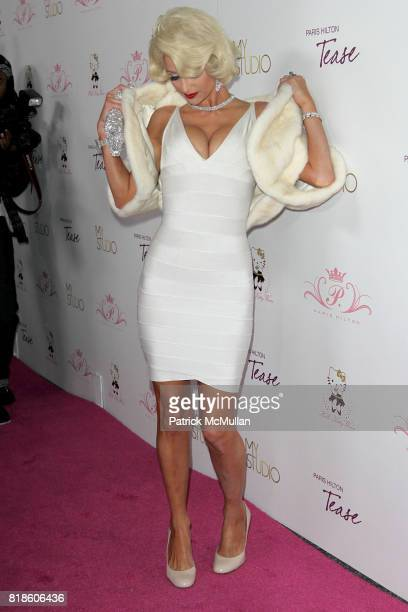 Paris Hilton attends Paris Hilton Embodies Icon Marilyn Monroe To Celebrate Her Fragrance Launch TEASE at MyStudio on August 10 2010 in Los Angeles CA