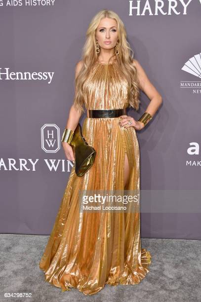 Paris Hilton attends the 19th Annual amfAR New York Gala at Cipriani Wall Street on February 8 2017 in New York City