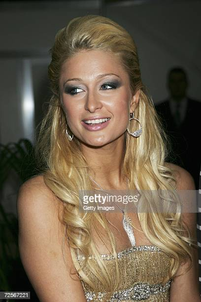 Paris Hilton attends the 2006 World Music Awards at Earls Court on November 15 2006 in London