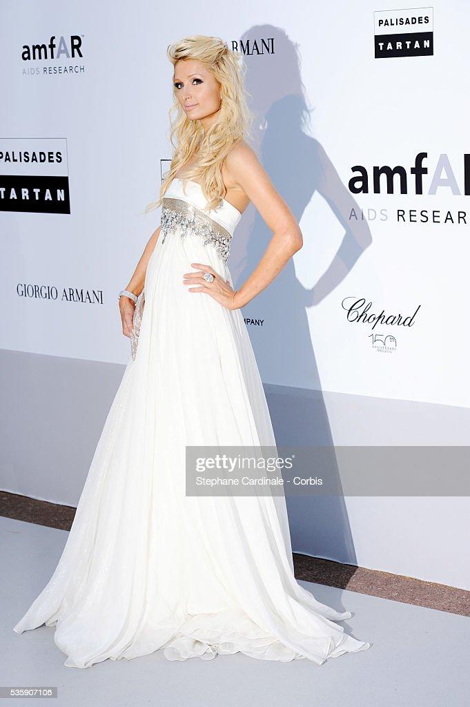 Paris Hilton attends the '2010 amfAR's Cinema Against AIDS' Gala.