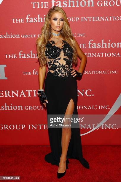 Paris Hilton attends the 2017 FGI Night Of Stars Modern Voices gala at Cipriani Wall Street on October 26 2017 in New York City