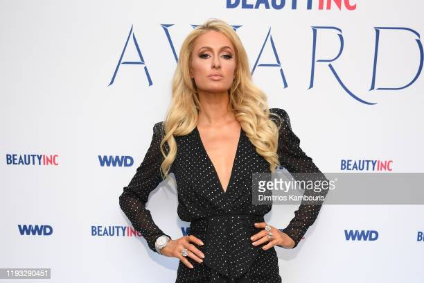 Paris Hilton attends the 2019 WWD Beauty Inc Awards at The Rainbow Room on December 11 2019 in New York City