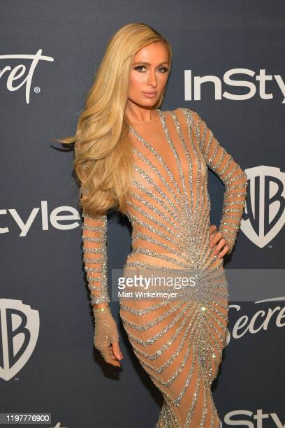Paris Hilton attends The 2020 InStyle And Warner Bros 77th Annual Golden Globe Awards PostParty at The Beverly Hilton Hotel on January 05 2020 in...