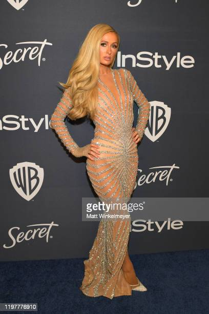 Paris Hilton attends The 2020 InStyle And Warner Bros. 77th Annual Golden Globe Awards Post-Party at The Beverly Hilton Hotel on January 05, 2020 in...