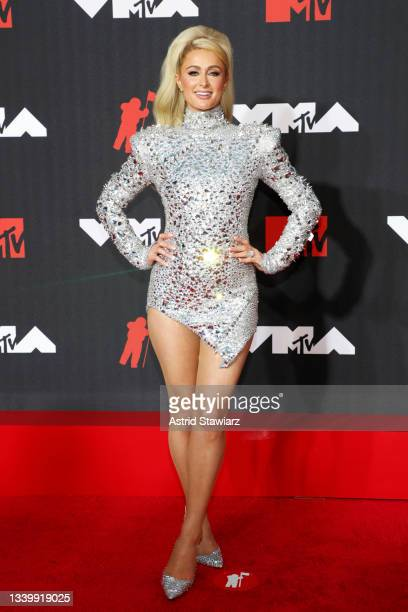 Paris Hilton attends the 2021 MTV Video Music Awards at Barclays Center on September 12, 2021 in the Brooklyn borough of New York City.