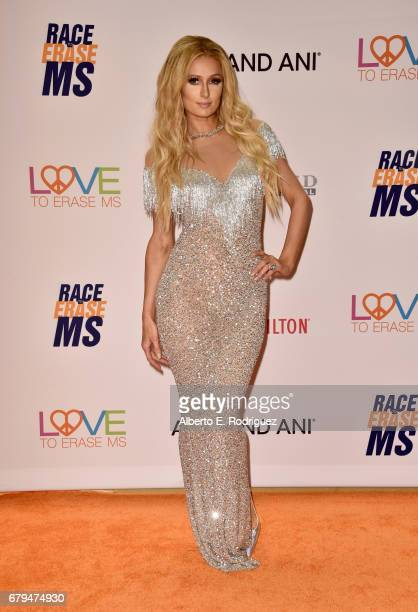 Paris Hilton attends the 24th Annual Race To Erase MS Gala at The Beverly Hilton Hotel on May 5 2017 in Beverly Hills California