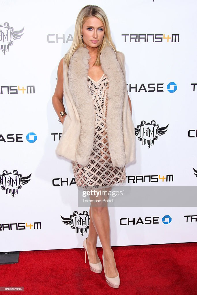 Paris Hilton attends the 2nd Annual Will.i.am TRANS4M Boyle Heights benefit concert held at Avalon on February 7, 2013 in Hollywood, California.