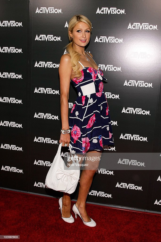 Paris Hilton attends the Activision E3 2010 kick-off event at the Staples Center on June 14, 2010 in Los Angeles, California.