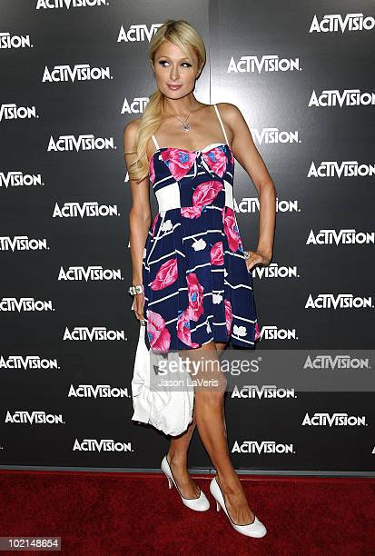 Paris Hilton attends the Activision kick-off party for E3 at Staples Center on June 14, 2010 in Los Angeles, California.
