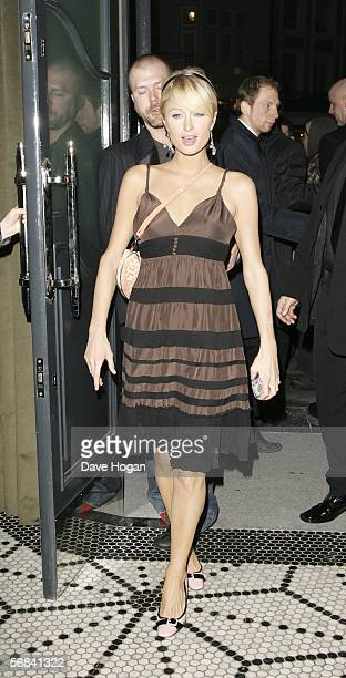 Paris Hilton attends the after show party following the UK Premiere of Casanova at Luciano on February 13 2006 in London England