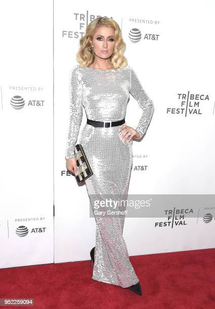 Paris Hilton attends 'The American Meme' screening premiere during the 2018 Tribeca Film Festival at Spring Studios on April 27 2018 in New York City