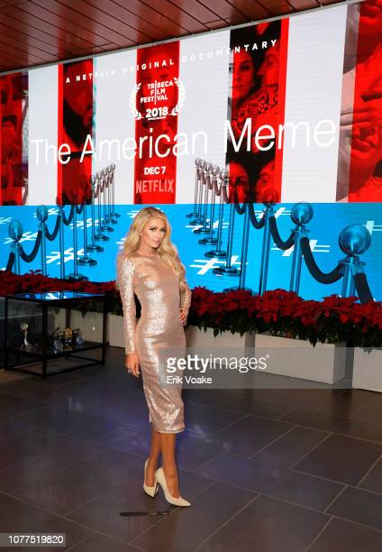 Paris Hilton attends The American Meme special screening on December 04 2018 in Los Angeles California