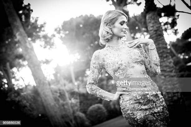 Paris Hilton attends the amfAR Gala Cannes 2018 dinner at Hotel du CapEdenRoc on May 17 2018 in Cap d'Antibes France