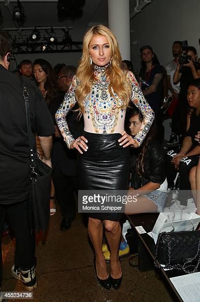 Paris Hilton attends The Blonds fashion show during MADE Fashion Week Spring 2015Êat Milk Studios on September 10 2014 in New York City