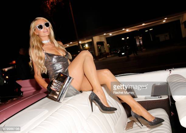 Paris Hilton attends the boohoocom x Paris Hilton Collection Launch Party at Delilah on June 20 2018 in West Hollywood California
