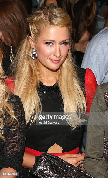 Paris Hilton attends the Charlotte Ronson SS13 Show at The Stage at Lincoln Center on September 7, 2012 in New York City.