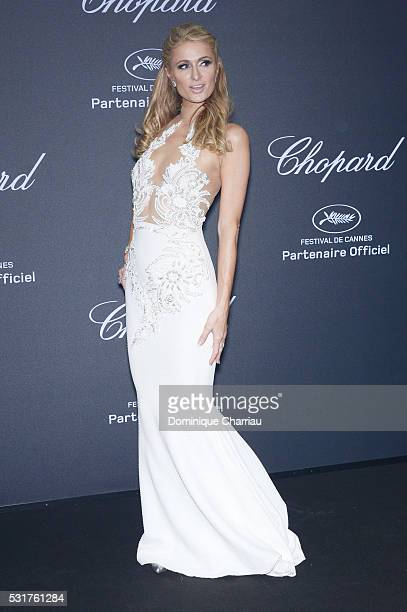 Paris Hilton attends the Chopard Party at Port Canto during the 69th annual Cannes Film Festival on May 16 2016 in Cannes France