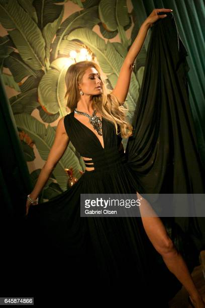 Paris Hilton attends the Circus Magazine Oscars Celebration Hosted By Steve Shaw and Jonas Tahlin CEO Absolut Elyx Sponsored by Volvo and Vaseline on...