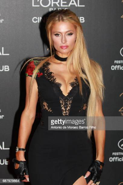 Paris Hilton attends the Gala 20th Birthday Of L'Oreal In Cannes during the 70th annual Cannes Film Festival at Hotel Martinez on May 24 2017 in...