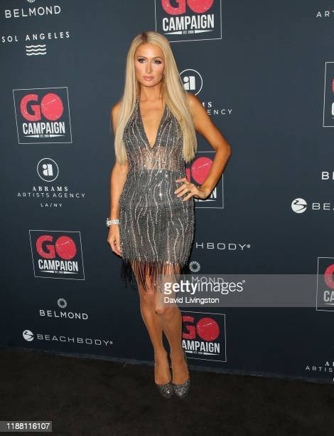 Paris Hilton attends the Go Campaign's 13th Annual Go Gala at NeueHouse Hollywood on November 16 2019 in Los Angeles California
